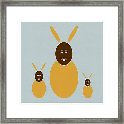 Rabbit Rabbit Rabbit Framed Print by Frank Tschakert