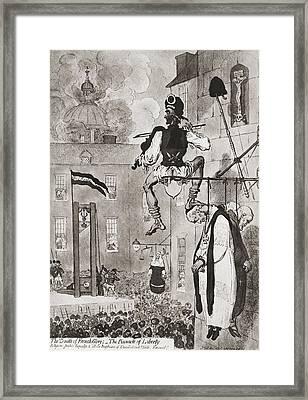 Drawing After James Gillray Entitled Framed Print by Vintage Design Pics