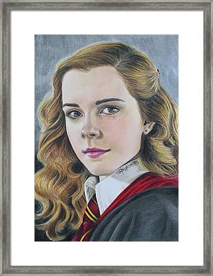 Drawing Hermione Granger Framed Print by PM Highlanders