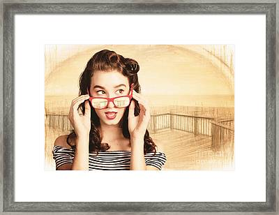 Drawn Out Glances Framed Print by Jorgo Photography - Wall Art Gallery