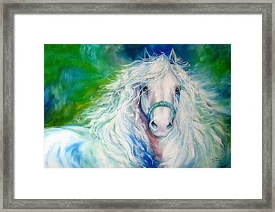 Dream Andalusian Framed Print by Marcia Baldwin