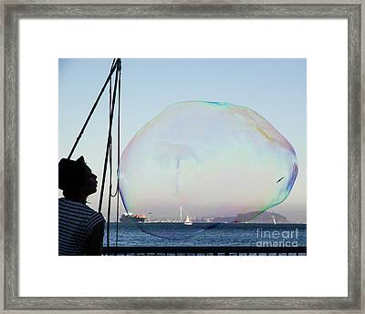 Dream Bubble  Framed Print by Juan Romagosa