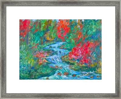 Dream Creek Framed Print by Kendall Kessler