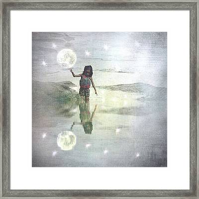 To Touch The Moon Framed Print by Melissa D Johnston