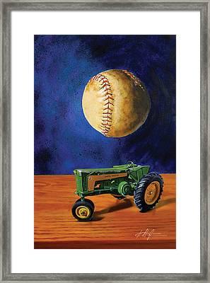 Dream Of Fields Framed Print by Karl Melton