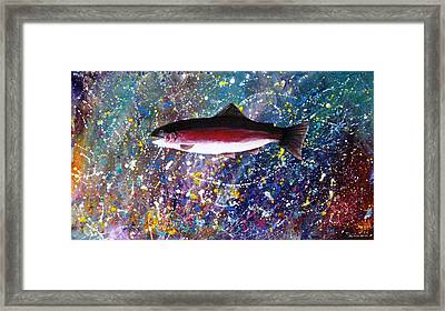 Dream Of The Rainbow Trout Framed Print by Lee Pantas