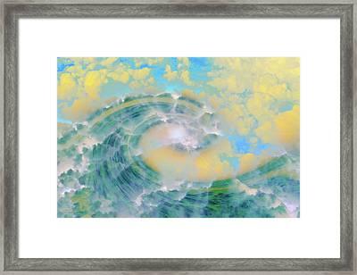 Dream Wave Framed Print by Linda Sannuti