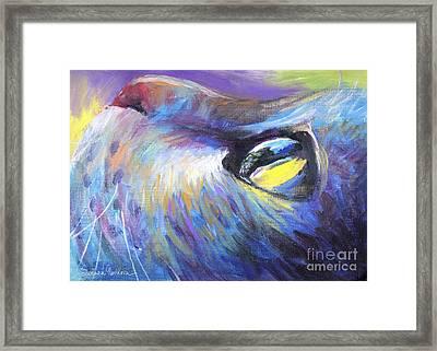 Dreamer Tubby Cat Painting Framed Print by Svetlana Novikova