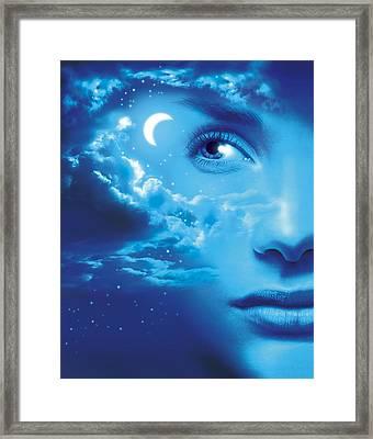 Dreaming, Conceptual Image Framed Print by Smetek
