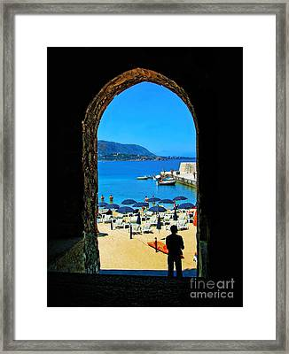 Dreaming Of A Vacation Framed Print by Sue Melvin