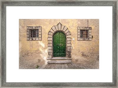 Dreaming Of Cortona Framed Print by David Letts