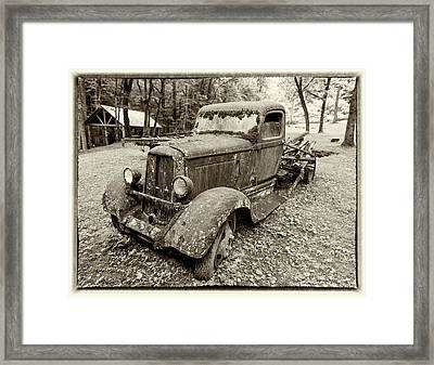 Dreaming Of Days Past - Vintage Dodge Truck Framed Print by Stephen Stookey