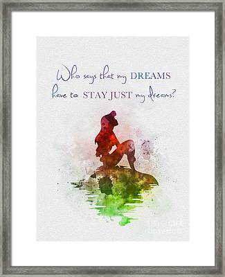 Dreams Framed Print by Rebecca Jenkins