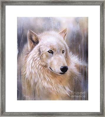 Dreamscape - Wolf II Framed Print by Sandi Baker