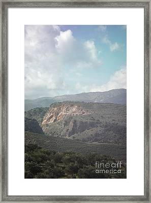 Dreamy Crete Framed Print by HD Connelly
