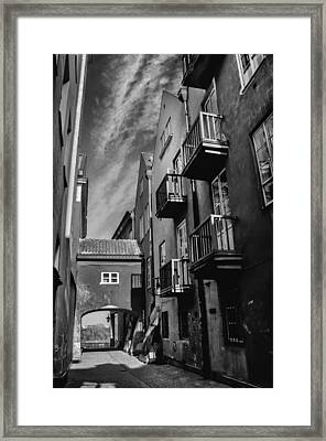 Dreamy Dawna Street Warsaw Framed Print by Carol Japp