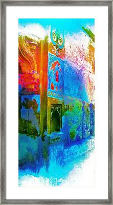 Dreamy Turquoise Abstract Arches Sun Fort Rajasthan India 2j Framed Print by Sue Jacobi