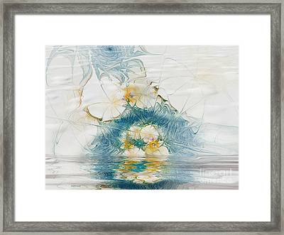 Dreamy World In Blue Framed Print by Deborah Benoit