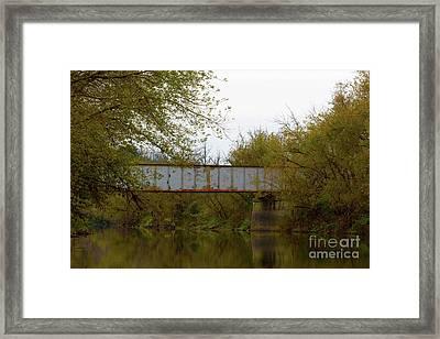 Dreary Bridge Dreary Day Framed Print by Alan Look
