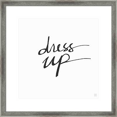 Dress Up- Art By Linda Woods Framed Print by Linda Woods
