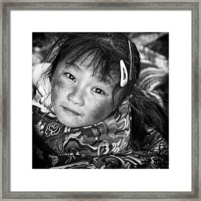 Dress Up For Village Party Framed Print by Bj Yang