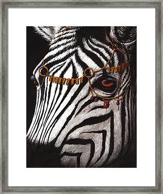 Dressed In Gold And Rubies Framed Print by Danielle Trudeau