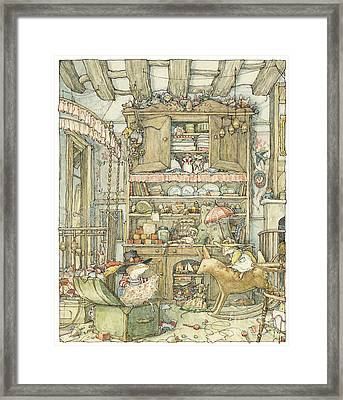 Dressing Up At The Old Oak Palace Framed Print by Brambly Hedge