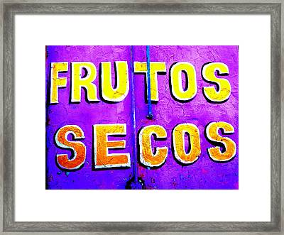 Dried Fruits ...santiago Style Framed Print by Funkpix Photo Hunter