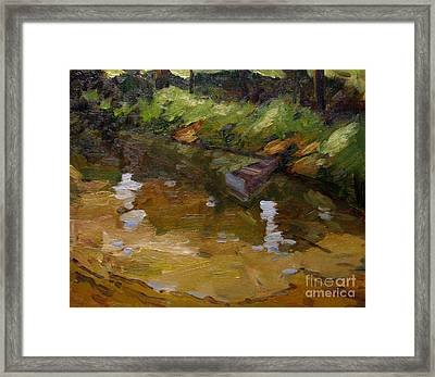 Drifiting The Eel Plein Air Framed Framed Print by Charlie Spear