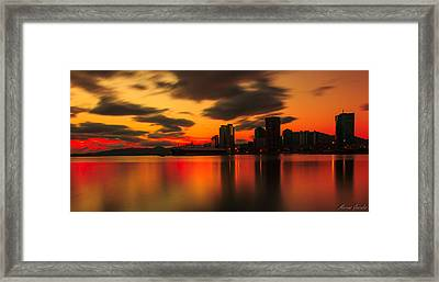Drift Pass Port Of Spain  Framed Print by Marcus Gonzales