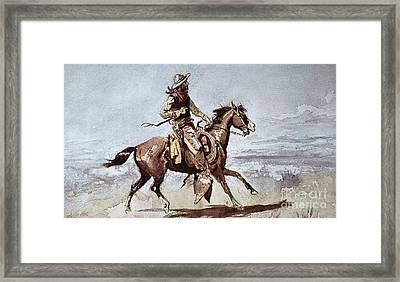 Drifters Framed Print by Charles Marion Russell