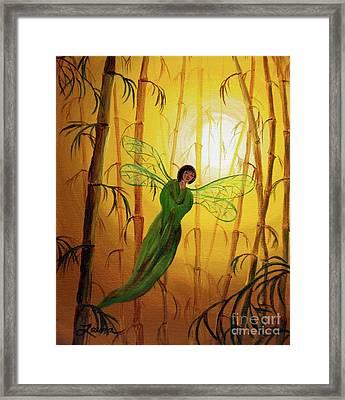 Drifting Bamboo Spirit Framed Print by Laura Iverson