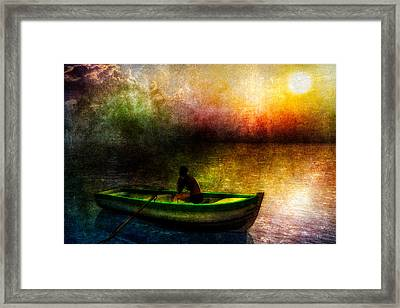 Drifting Into The Light Framed Print by Bob Orsillo