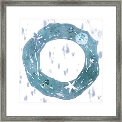 Driftwood Wreath Framed Print by Tracy Herrmann