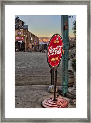 Drink Coca Cola Refresh Framed Print by Susan Candelario