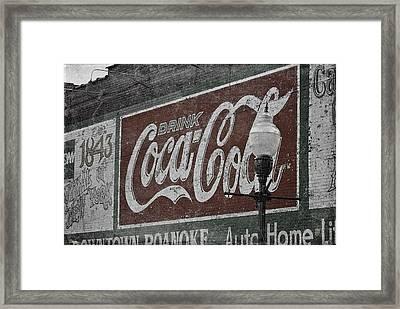 Drink Coca Cola Roanoke Virginia Framed Print by Teresa Mucha