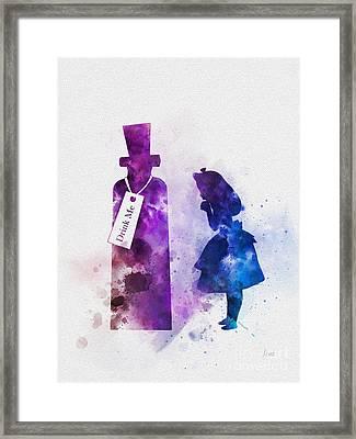Drink Me Framed Print by Rebecca Jenkins