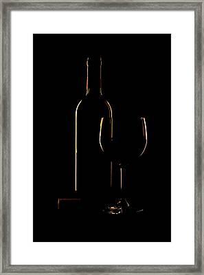 Drink Poured Framed Print by Andrew Soundarajan