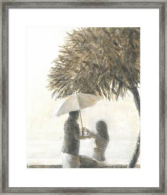 Drink Under A Tree Framed Print by Lincoln Seligman
