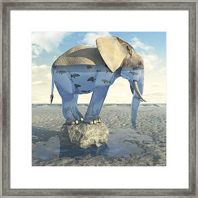 Drinking Problem Framed Print by Cynthia Decker