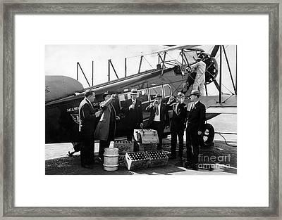 Drinking Prohibition Agents  Framed Print by Jon Neidert