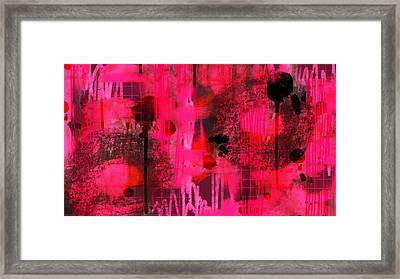 Dripping Pink Framed Print by Lisa Noneman