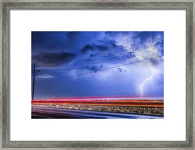 Drive By Lightning Strike Framed Print by James BO  Insogna