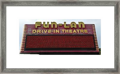 Drive Inn Theatre Framed Print by David Lee Thompson