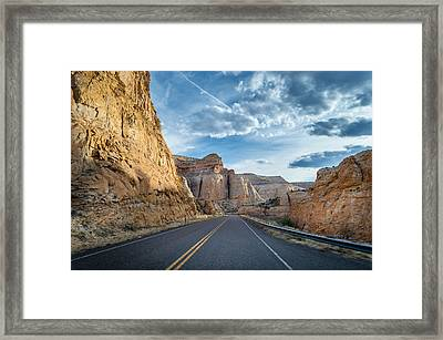 Drive Into Capitol Reef National Park Framed Print by Michael J Bauer