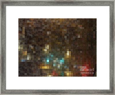 Driving Rain Framed Print by Sarah Loft