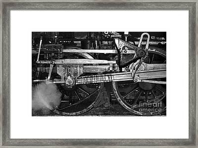 Driving Wheels Framed Print by Richard Rizzo