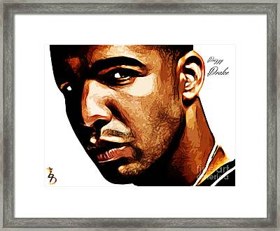 Drizzy Drake Framed Print by The DigArtisT