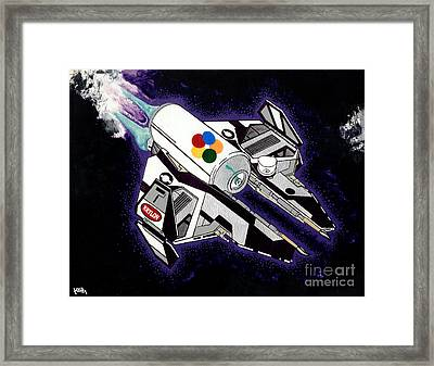 Drobot Space Fighter Framed Print by Turtle Caps