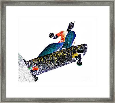 Dropping In Framed Print by Meirion Matthias